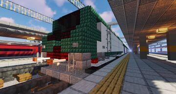 Trenitalia FS Class E.464 w/coaches Minecraft Map & Project