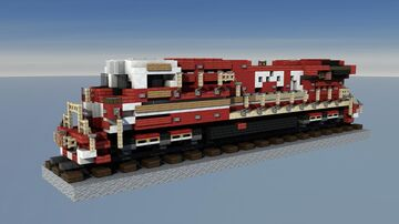 CSX GE ES44AH GEVO First Responders #911 Minecraft Map & Project