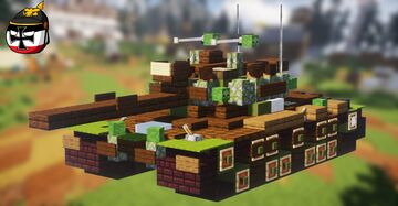 M48A5 Patton (2:1 Scale) Minecraft Map & Project