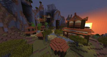 Hillside Acacia Temple Minecraft Map & Project