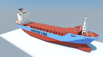 Maersk Antwerp (1:1 Scale Container Ship) Minecraft Map & Project