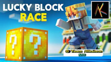 Lucky Block Race Minecraft New Map | Team Alkaison MC Minecraft Map & Project