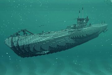 U-boat type VIIC U-552 Minecraft Map & Project