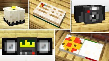 20 Custom Heads Building Tricks & Decoration Minecraft Map & Project