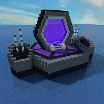 Futuristic Nether Portal +tutorial video Minecraft Map & Project