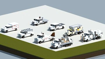 Dreamy's pack of railroad service trucks #1 [With download] Minecraft Map & Project