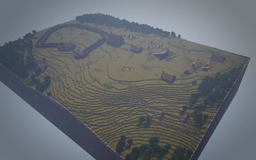 Ad Gefrin - The Anglo-Saxon Palace Complex of King Edwin [Northumberland, 616 - 633 A.D.] Minecraft Map & Project