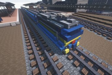 Czech electric locomotive ČSD Class 363 with B249 vagons | Krysot | MFC Minecraft Map & Project