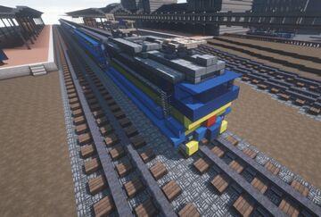 Czech electric locomotive ČSD Class 363 with B249 vagons | Krysot | MFC Minecraft Map & Project