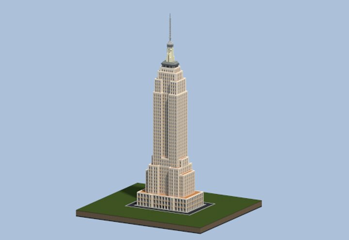 Popular Map : Empire State Building, Midtown Manhattan - New York USA | Minecraft Infrastructure project.