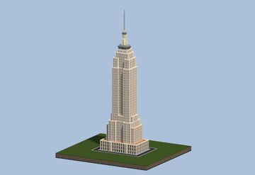 Empire State Building, Midtown Manhattan - New York USA | Minecraft Infrastructure project. Minecraft Map & Project