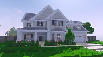 Realistic American Style Suburban House 2 Minecraft Map & Project