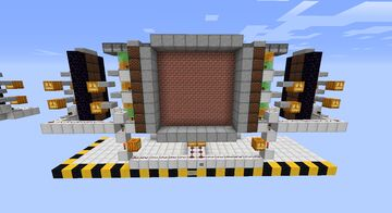 8x8 Sliding Piston Door Minecraft Map & Project
