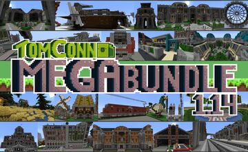 TomConn's MEGA Building Bundle - 150+ Free Builds Minecraft Map & Project