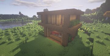 Zaypixel wooden modern house Minecraft Map & Project