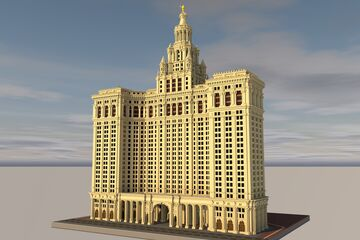 The David N. Dinkins Manhattan Municipal Building Minecraft Map & Project