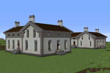 1830s American Greek Revival Farmhouse in Two Proportions Minecraft Map & Project