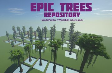[EPIC TREES] Huge trees pack / repository Minecraft Map & Project