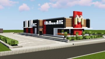 Realistic McDonald's - available for download into your city Minecraft Map & Project