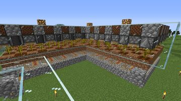 Melon and Pumpkin Farm for Villager Trading Minecraft Map & Project