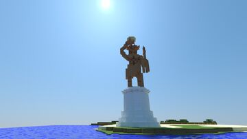 Colossus of Rhodes 1:1 scale Minecraft Map & Project