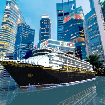 Disney Wonder Cruise Ship Replica [Full Interior and Download] Minecraft Map & Project