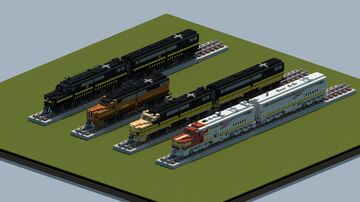 Alco PA1 diesel electric locomotive [With Download] Minecraft Map & Project