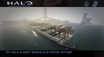 HALO 3 ODST  Space elevator - tether Minecraft Map & Project