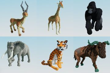 Jungle animals Minecraft Map & Project