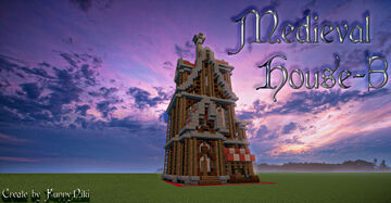 Medieval House №-3. Minecraft Map & Project