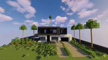 1.15 Modern House #1 Minecraft Map & Project