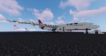 Air India Boeing 787-8 (1:1) Minecraft Map & Project