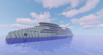 Ulysseas Project - STX Arctic Cruise Ship (1:1 scale) Minecraft Map & Project
