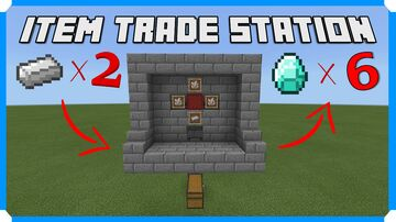 How To Build A Server Trade Station Minecraft Map & Project