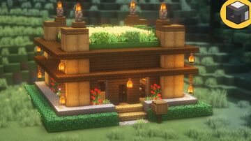 How to Build a WOODEN MODERN House Minecraft Map & Project