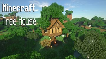 Simple cozy Tree house Idea Minecraft Map & Project
