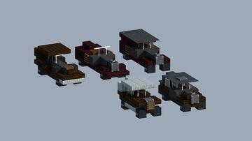 Steampunk Era Cars Minecraft Map & Project