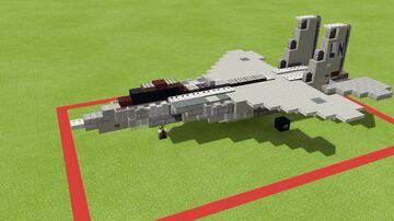 Mcdonnell Douglas f-15C Eagle 1.5-1 Scale Minecraft Map & Project