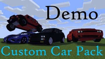 Demo Custom Car Pack Minecraft Map & Project