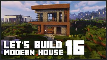 Minecraft Modern House : How to build a Modern House Minecraft Map & Project