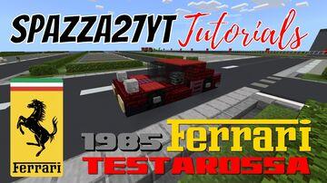Ferrari Testarossa type F110 1985 Minecraft Map & Project