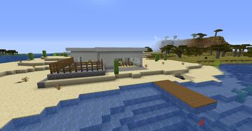 Simple Beach House Minecraft Map & Project