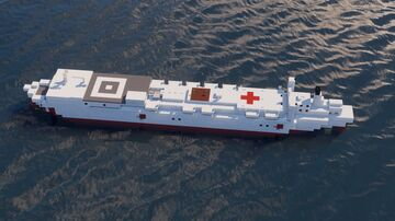 USNS Mercy   1:5 Scale Minecraft Map & Project