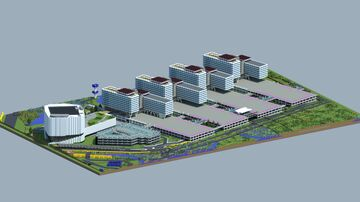 Schiphol airport. 1:1 scale. Minecraft Map & Project