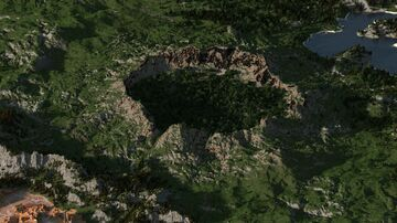 Island with a multibiom crater 5000х5000 Minecraft Map & Project