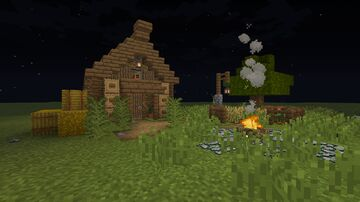 The Ultimate 3x3 Log Cabin Minecraft Map & Project