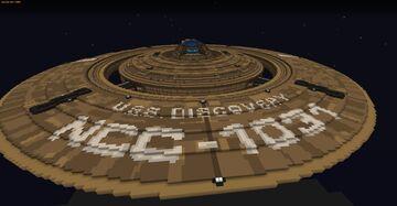 Star Trek USS Discovery Full Scale V3 (Minetrek) Minecraft Map & Project