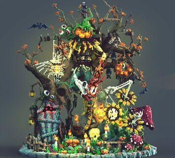 Jack-O'-Lantern Scarecrow Minecraft Map & Project
