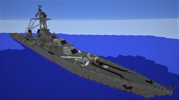 French light cruiser La Galissonnière Minecraft Map & Project