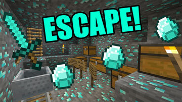 Escape The Diamond Dungeon! (Adventure Map) Minecraft Map & Project